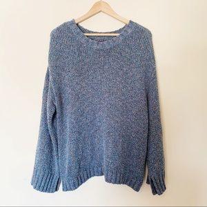American Eagle Oversized Zipper Side Knit Sweater